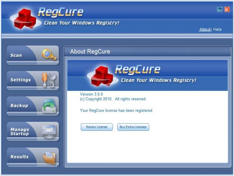 Скачать Бесплатно RegCure 3.0.2.0 Final Rus + Portable by Valx.